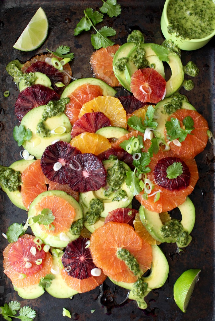 Orange Avocado Salad with Cilantro Lime Dressing from Ciao Florentina | Shiny Happy Bright
