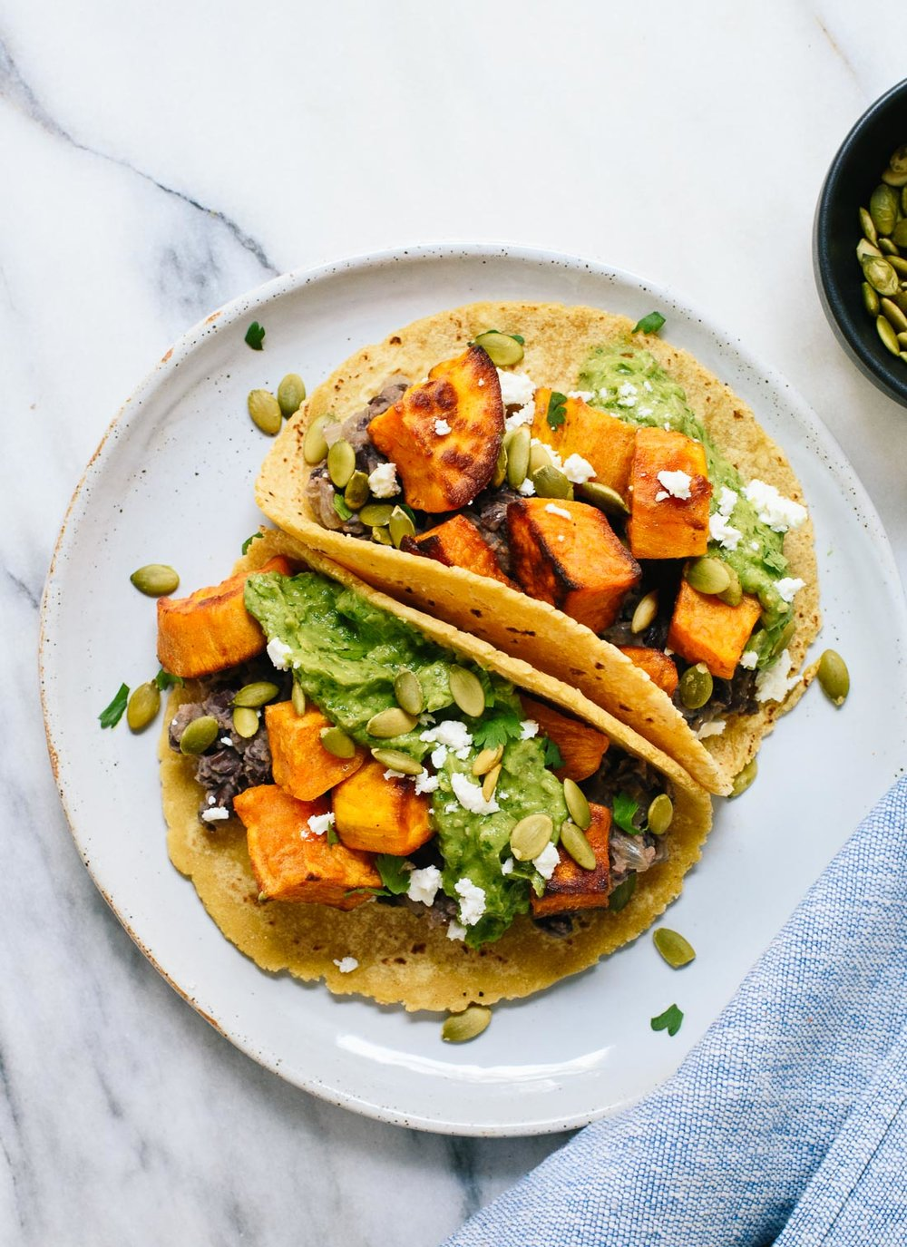 Sweet Potato and Black Bean Tacos from Cookie & Kate | A roundup from Shiny Happy Bright