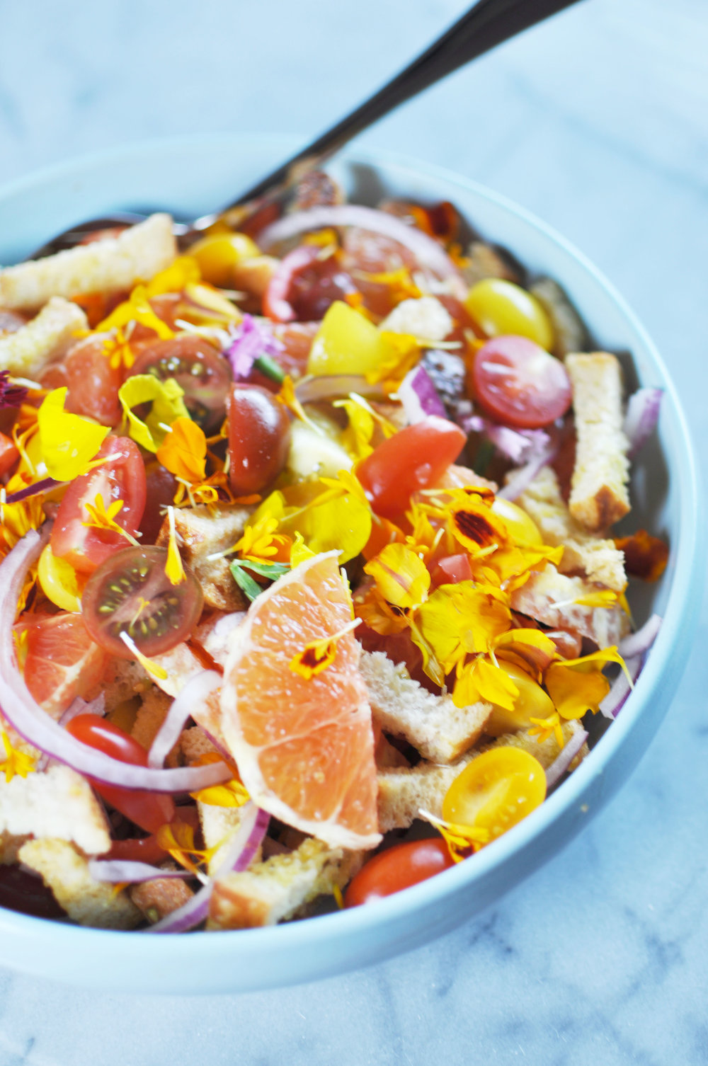 Cara Cara Orange Panzanella | Shiny Happy Bright