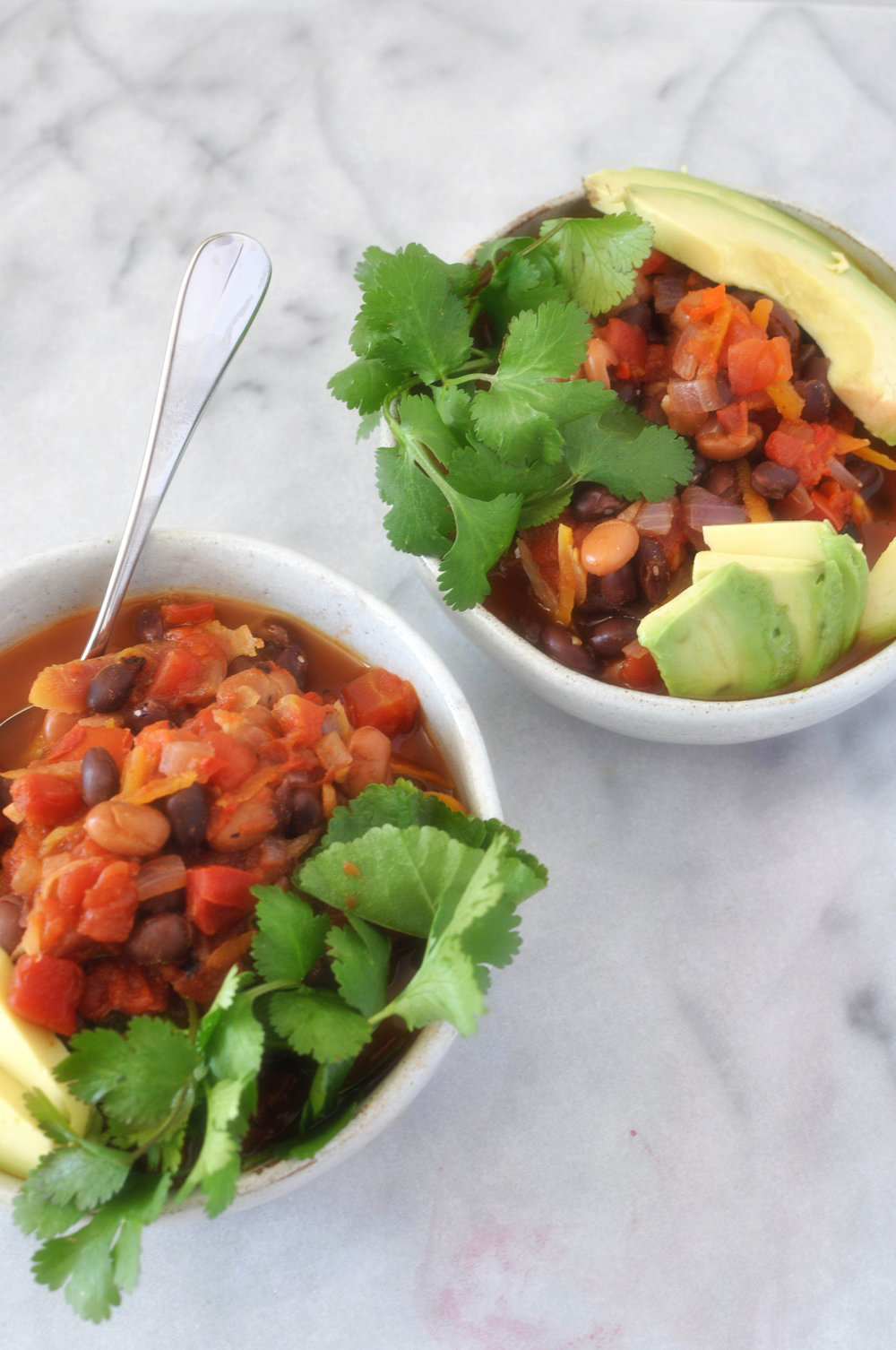 The ultimate vegan chili. A delicious, simple recipe for dinner (vegan, vegetarian, healthy dinner) | Shiny Happy Bright