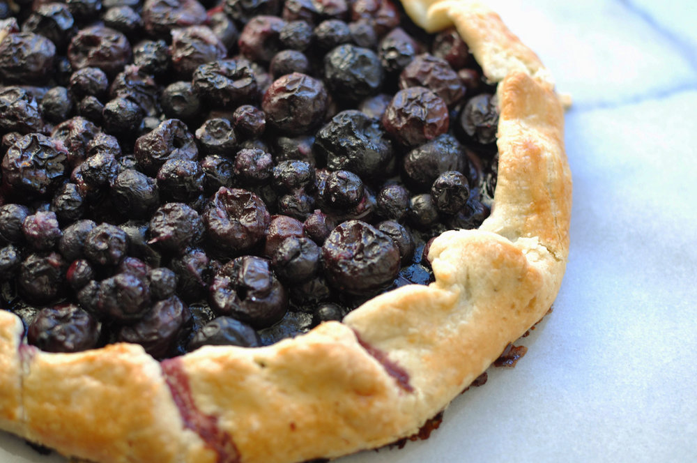Cherry and Blueberry Galette | Shiny Happy Bright