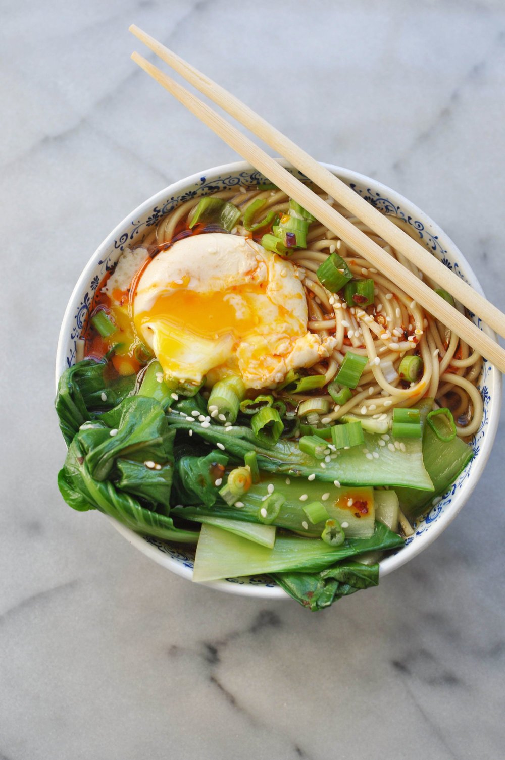 Miso Ramen with Bok Choy and Chili Oil | Shiny Happy Bright