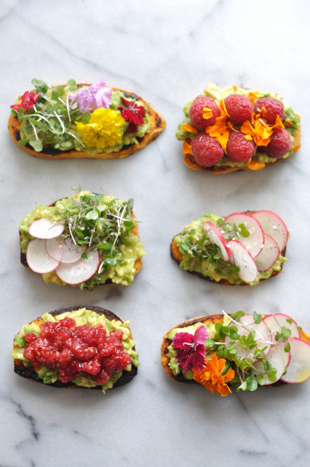 "Avocado Sweet Potato ""Toast"". A vegan, healthy breakfast or snack with plenty of fun add-ons | Shiny Happy Bright"
