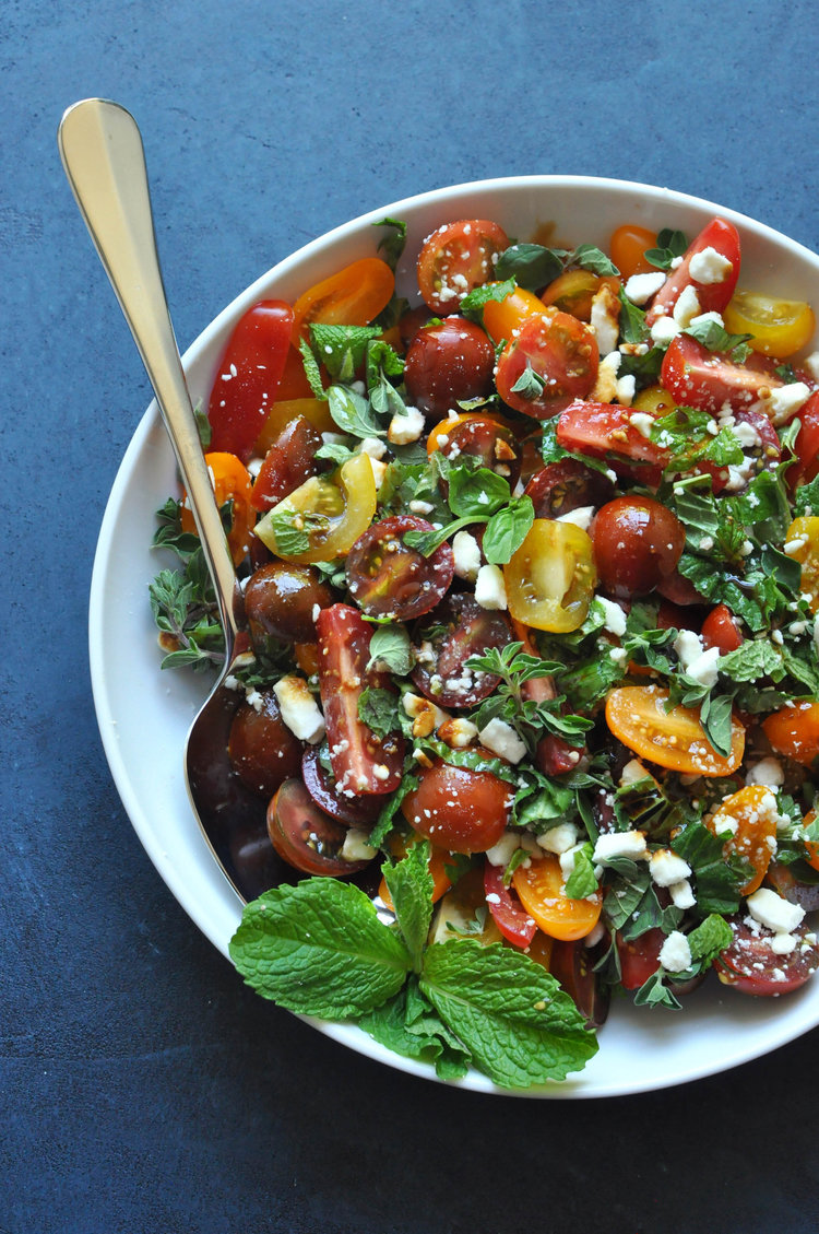 Mediterranean Summer Salad - a perfect 4th of July salad | Shiny Happy Bright