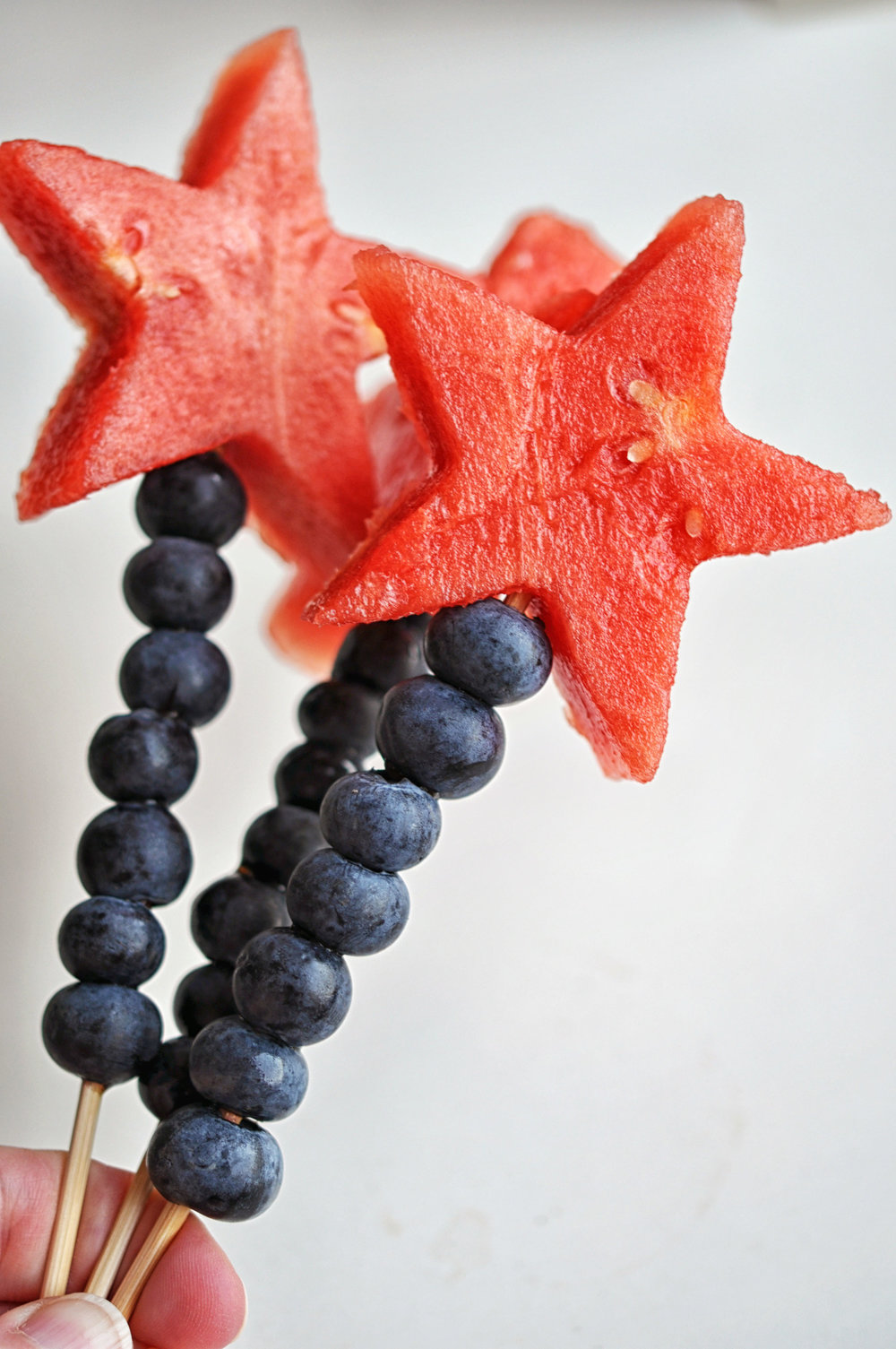 Watermelon & Blueberry Sparklers - a perfect 4th of July treat | Shiny Happy Bright