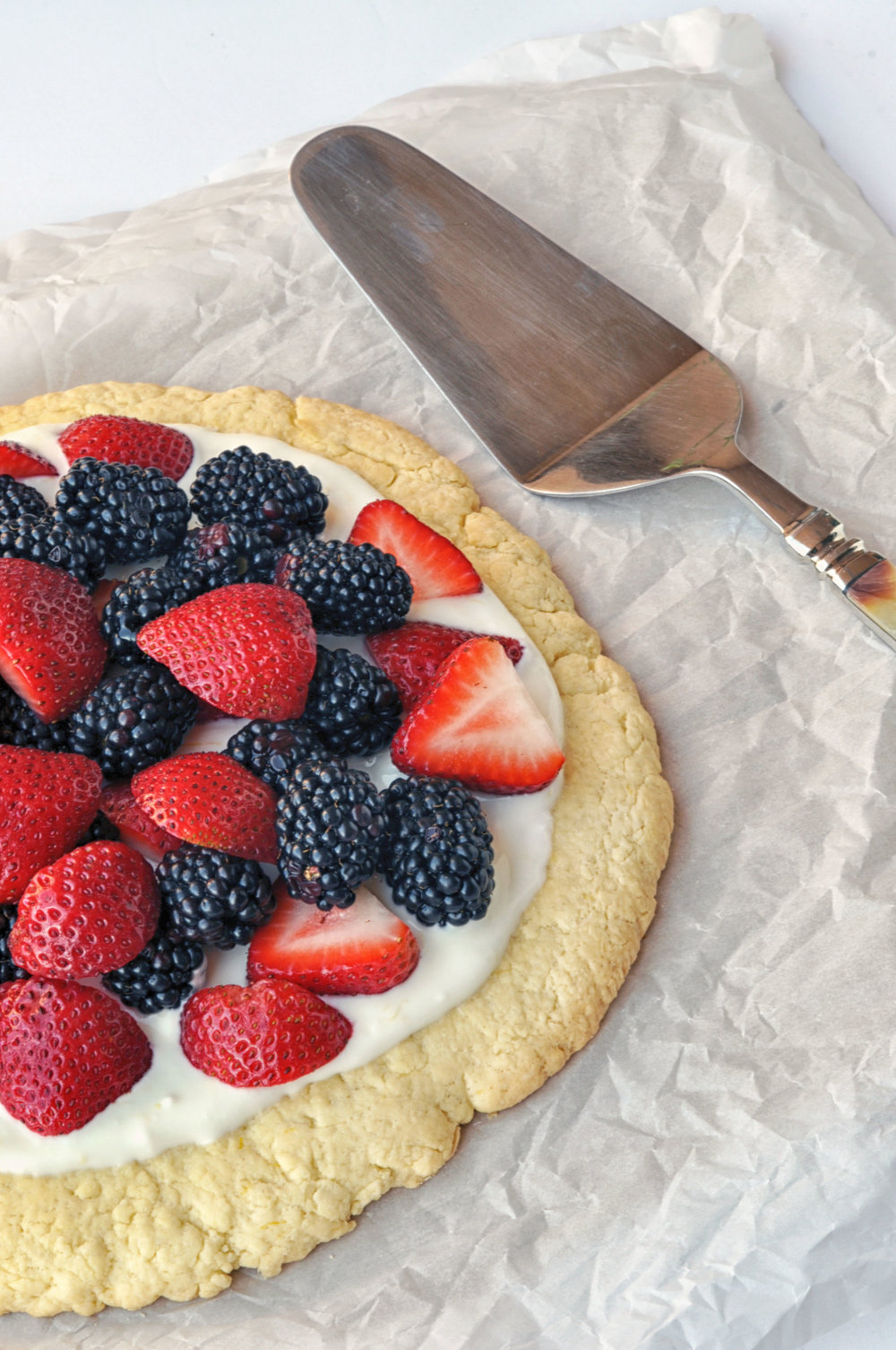 Summer Berry Lemon Pizza | Shiny Happy Bright