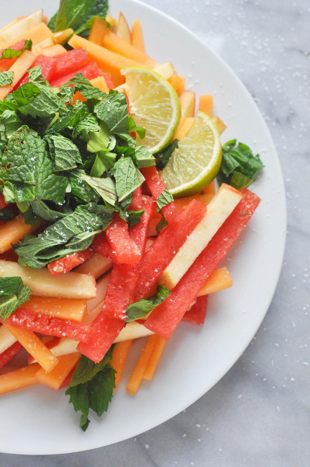 Watermelon Summer Salad - a healthy, delicious summer salad recipe | Shiny Happy Bright
