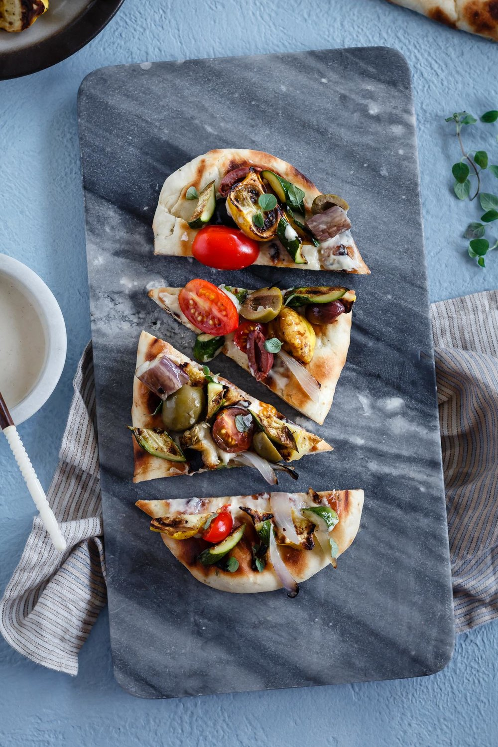 Grilled Mediterranean Vegetable Flatbread from Le Petit Eats