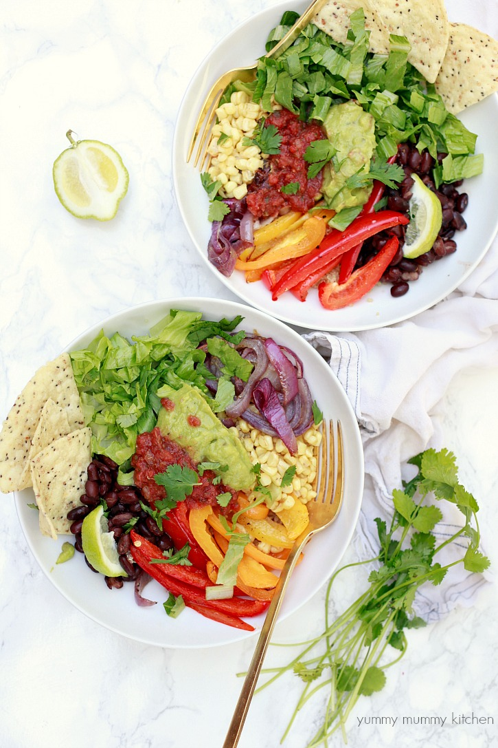 Quinoa Burrito Bowls from Yummy Mummy Kitchen