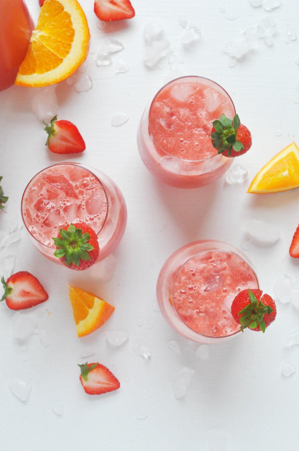 Watermelon Strawberry Sangria Recipe   Shiny Happy Bright