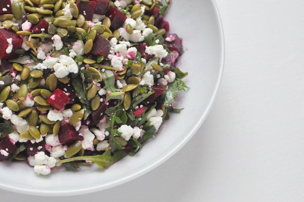 Roasted Beet Salad with Goat Cheese Recipe | Shiny Happy Bright