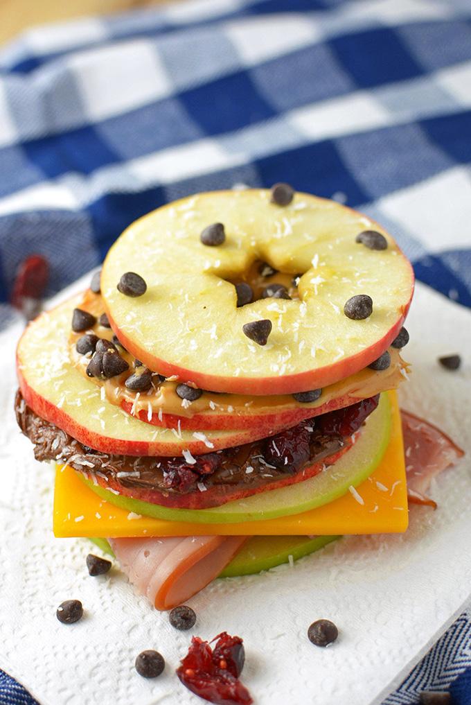 Apple Slice Snack Sandwiches from Simple Seasonal