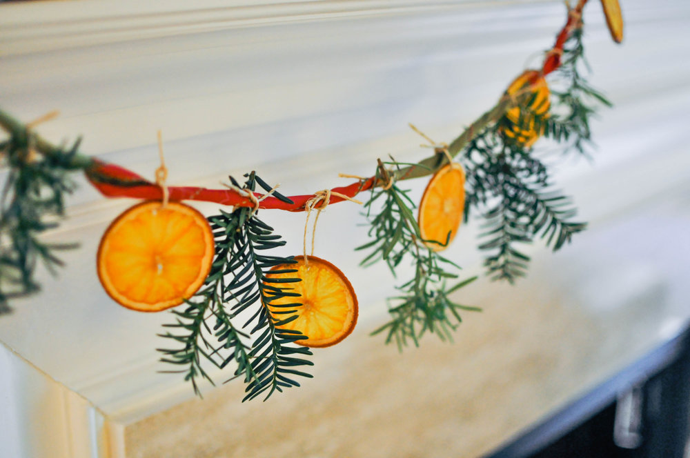 DIY Citrus & Rosemary Garland from This Healthy Table