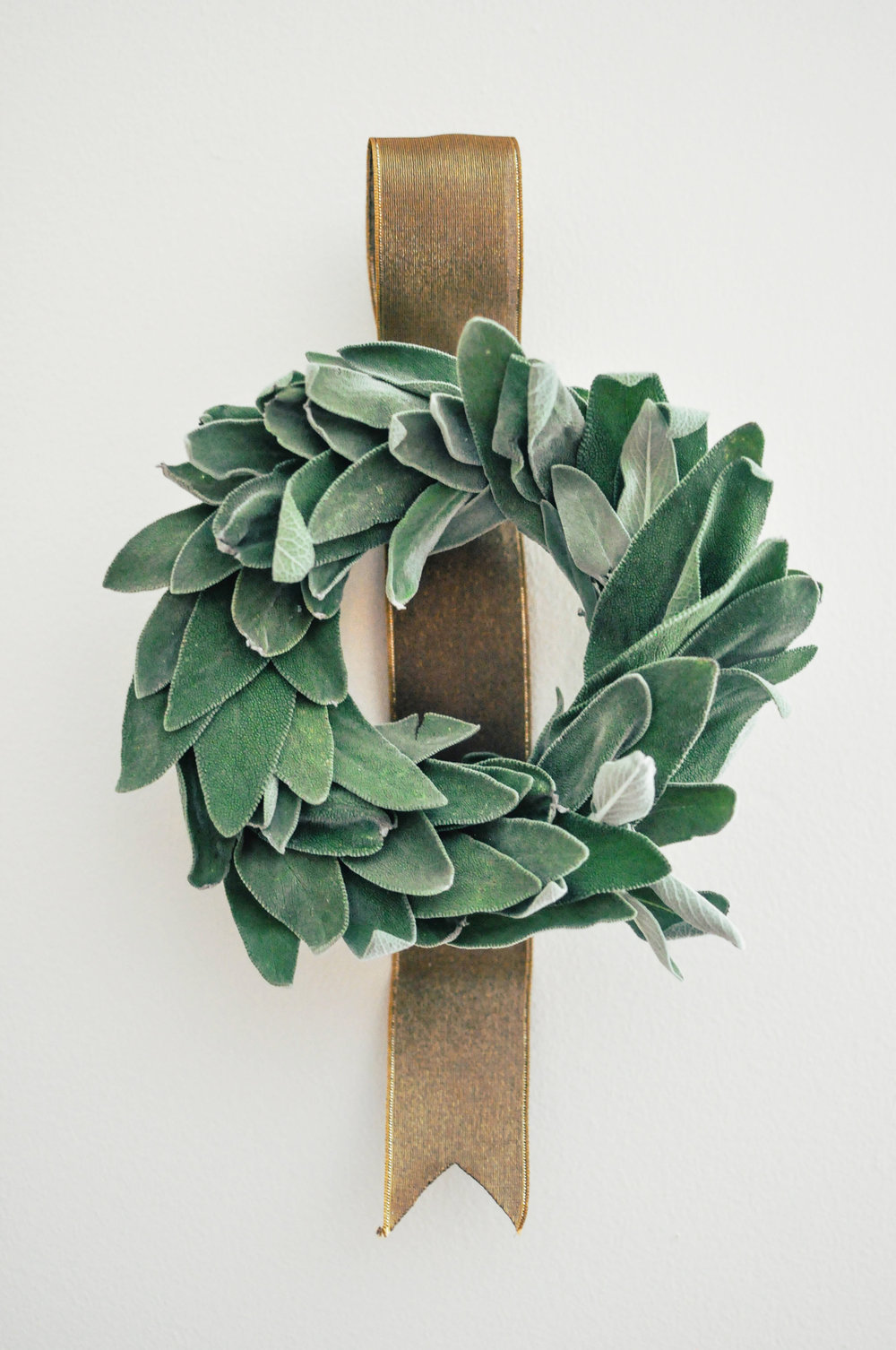 DIY Sage Wreath from This Healthy Table. Get the instructions here. -