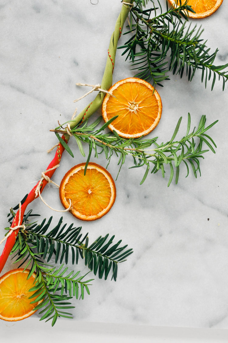 DIY Citrus & Rosemary Garland from This Healthy Table. Get the instructions here. -