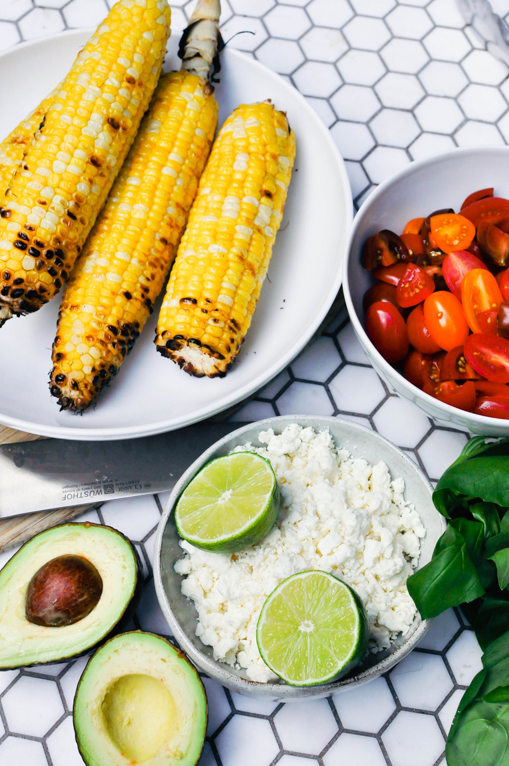 Grilled Corn Salad - a delicious, vegetarian recipe. A perfect summer side dish or main course | This Healthy Table
