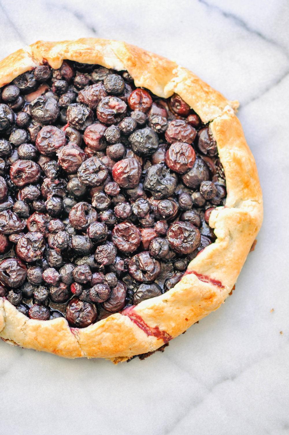 Cherry and Blueberry Galette | This Healthy Table