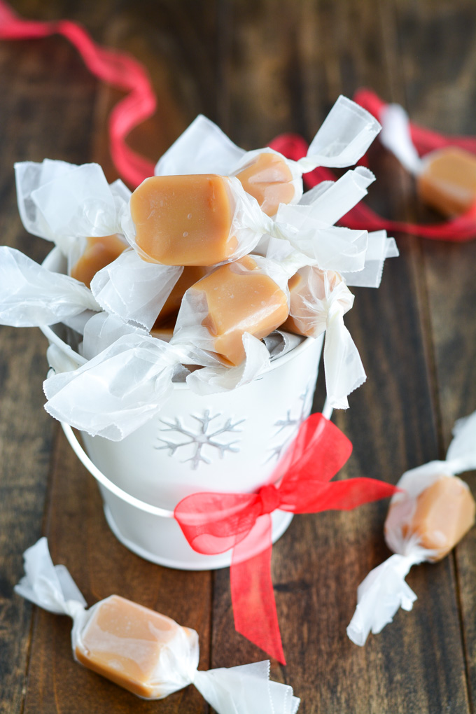 Homemade Caramels from Garnish and Glaze. Get the recipe here. -