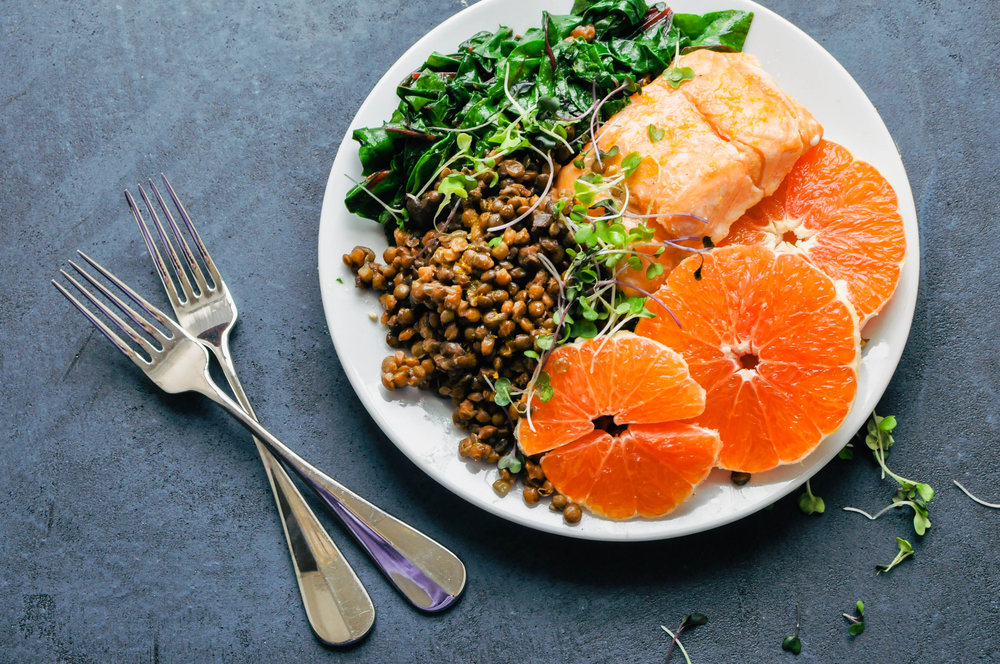 Cara Cara Orange Salmon & Lentil Bowl | This Healthy Table