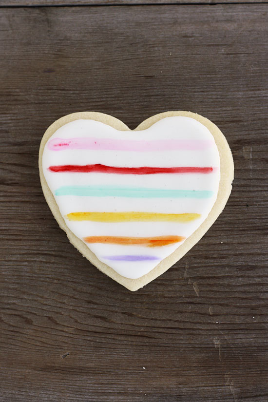Painted Heart Sugar Cookies from Minted. Get the recipe here. -