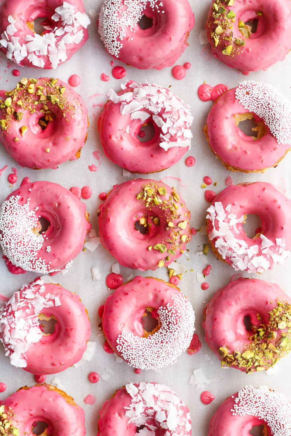 Coconut Raspberry Donuts from The Sweet and Simple Kitchen. Get the recipe here. -