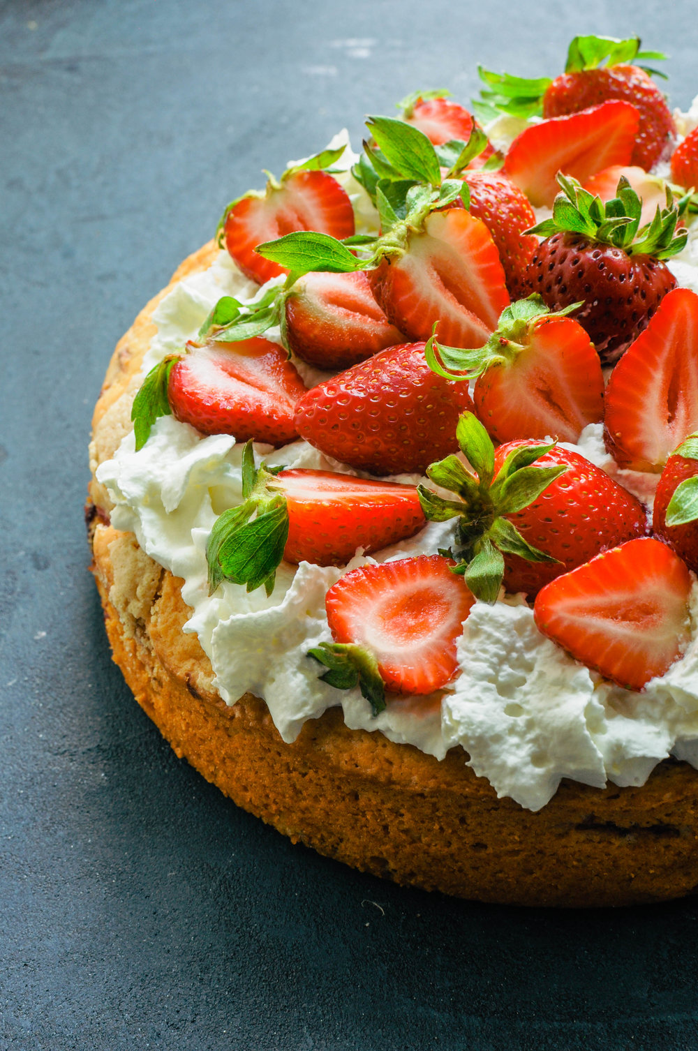 Strawberry Tahini Short Cake | This Healthy Table