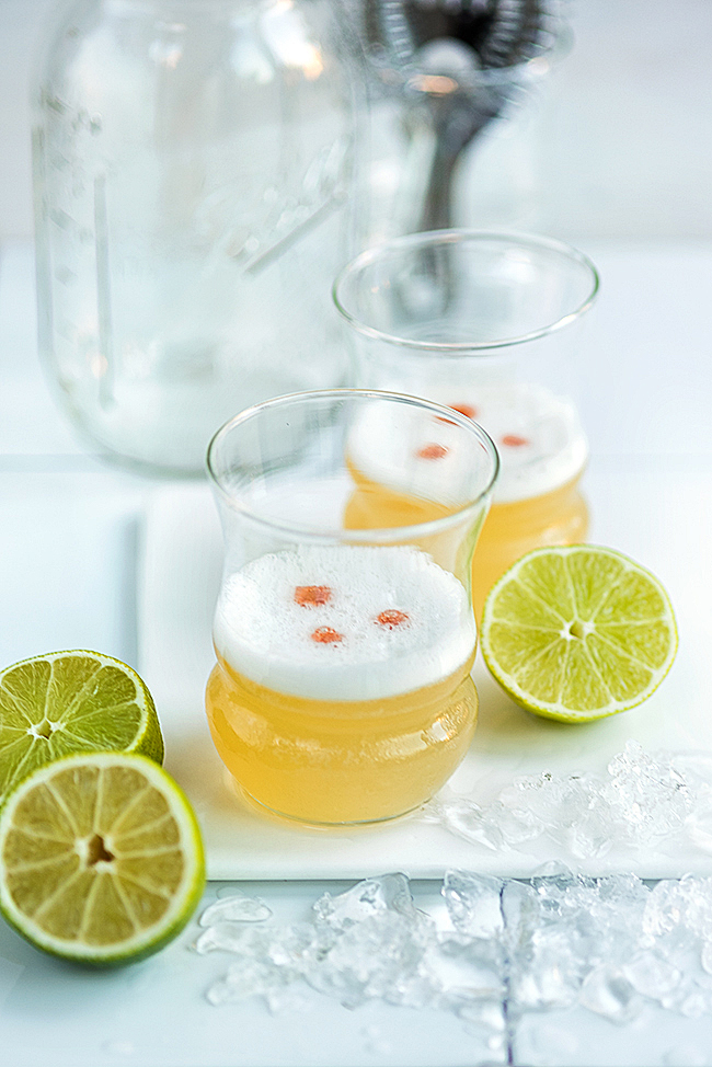 From Peru - The Pisco Sour (recipe from Supergolden Bakes) -