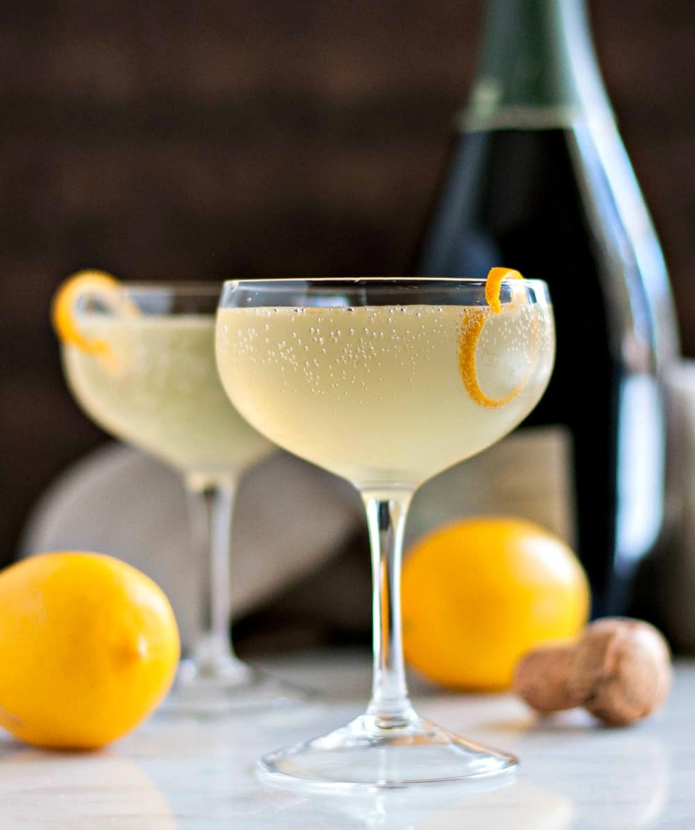 From France - The French 75 Cocktail (recipe from Pinch and Swirl) -