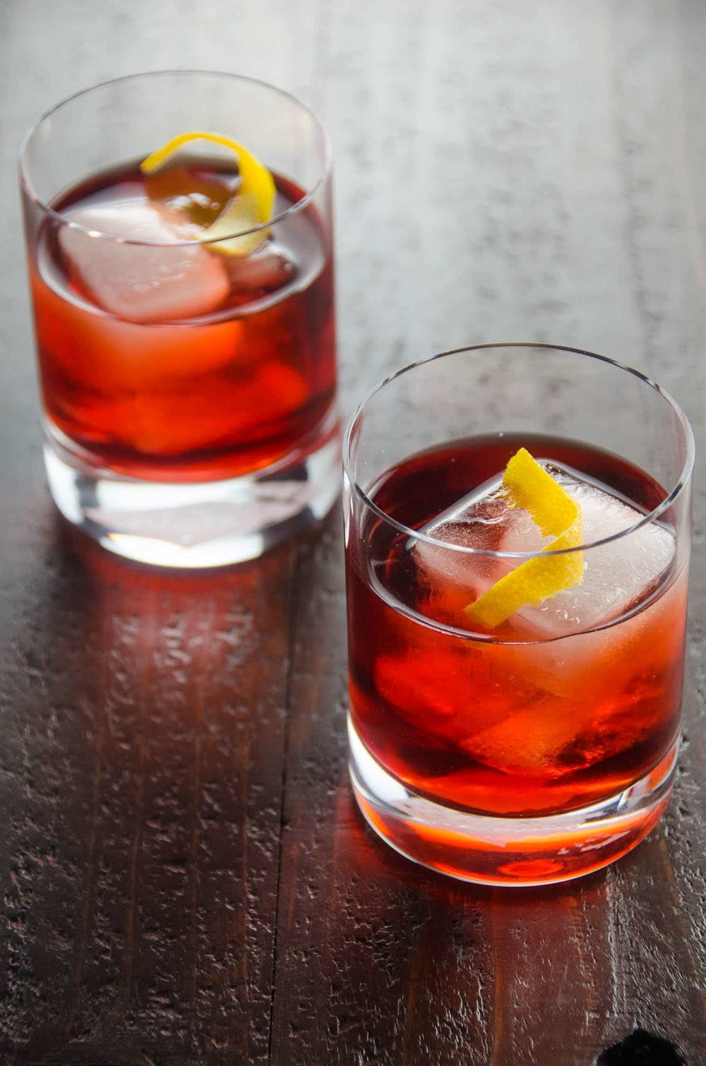 From Italy - a Classic Negroni Cocktail (recipe from Umami Girl) -