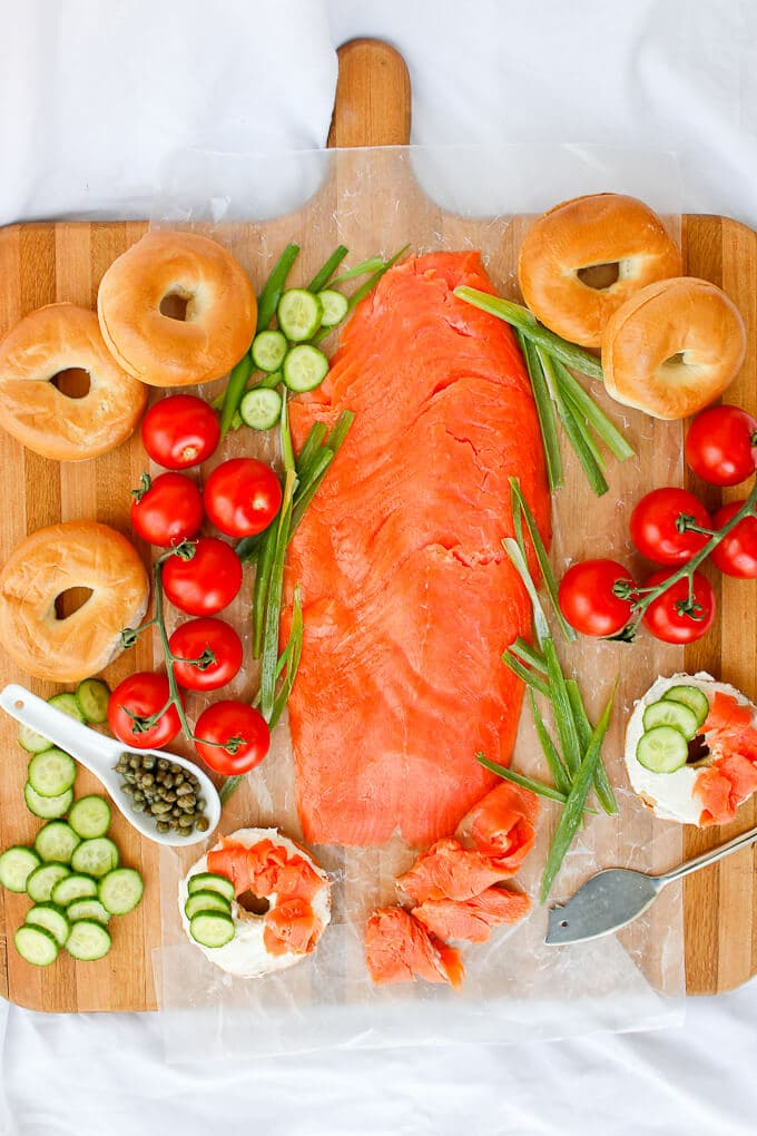 Bagels and Lox from Champagne Tastes