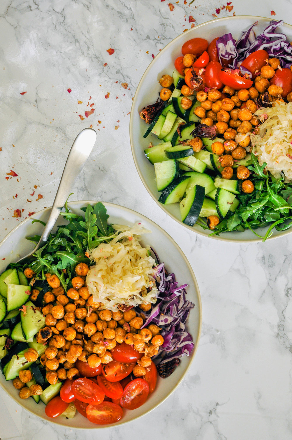 Chickpea Power Bowl Recipe - This vegan chickpea power bowl is full of flavor!