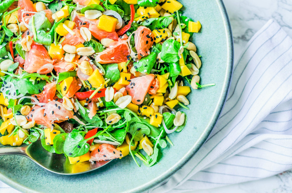 Spicy Thai Grapefruit Salad | This Healthy Table
