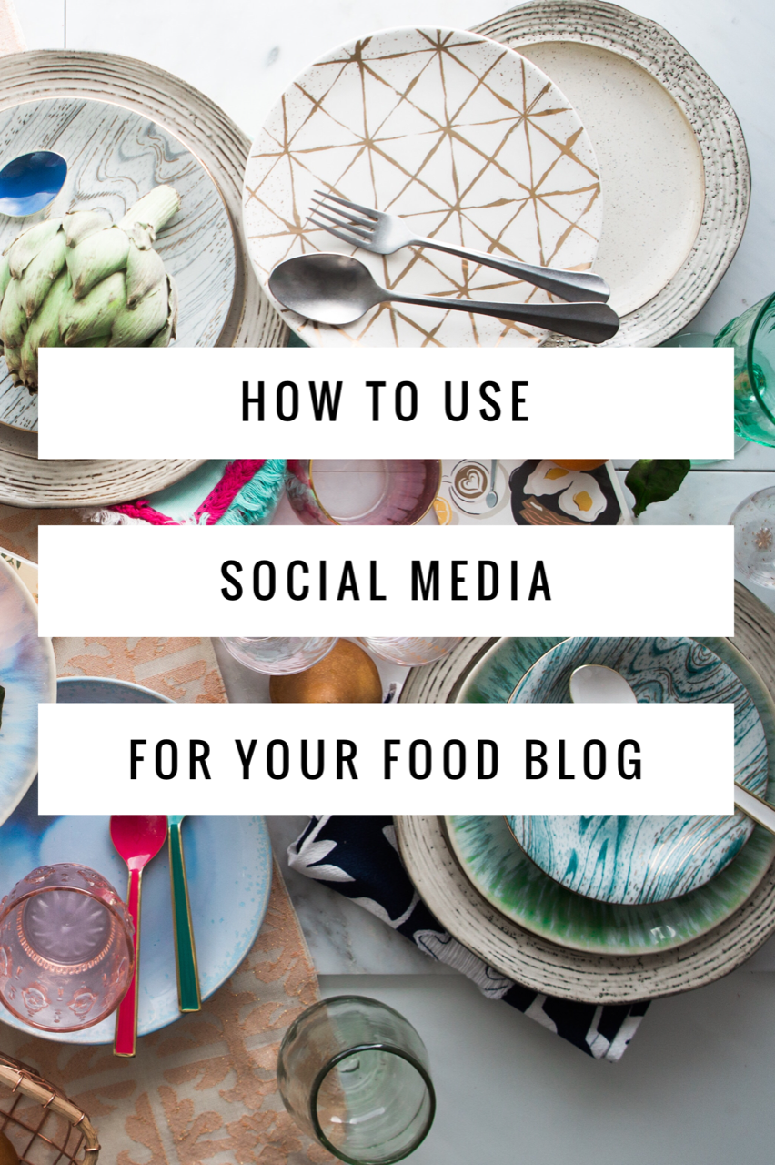 Using Social Media for Your Food Blog. This guide will explain why you should use social media for your food blog and the best social media channels to use (includes Instagram, Pinterest, and Facebook advice).