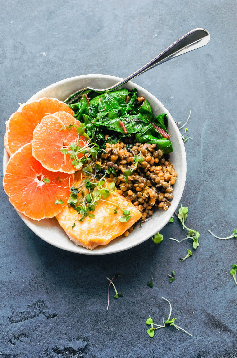 Cara Cara Orange Salmon & Lentil Bowl