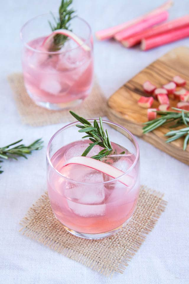 Rhubarb and Ginger Gin Recipe from Fuss Free Flavors - Enjoy this fruity rhubarb and ginger gin on its own, or mixed as a long drink. A deliciously different tipple that's easy to make and easier to enjoy.
