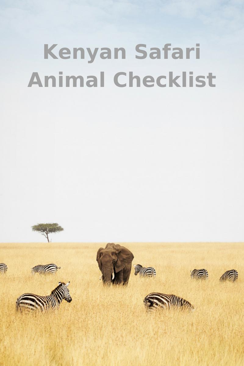 Kenyan Safari Animal Sighting Checklist
