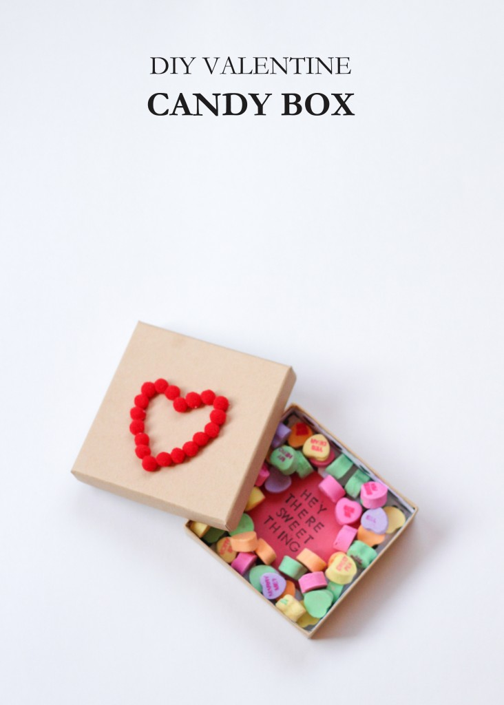 DIY Valentine's Day Candy Box from The Crafted Life