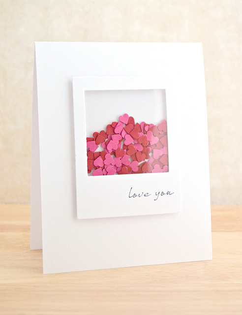 Valentine's Day Shaker Card from Crafting Confessions