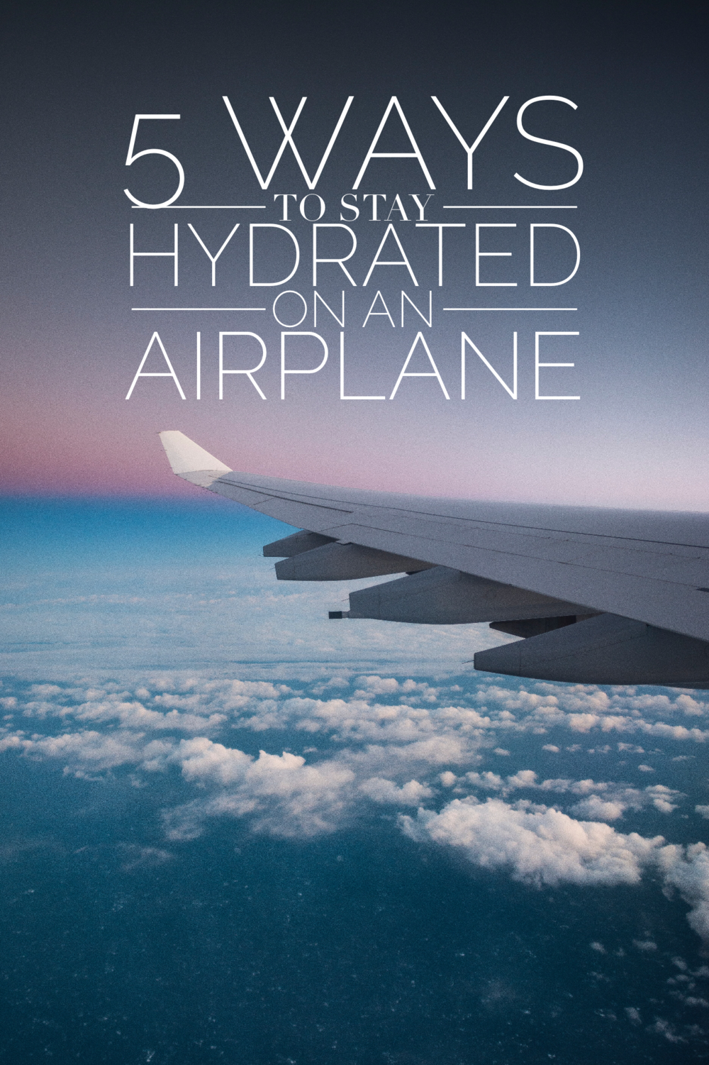 5 Ways to Stay Hydrated on a Plane. One of the best ways to feel great while traveling is to make sure you stay hydrated when you're on the plane. With only a little preparation, you can have a much healthier, happier flight!