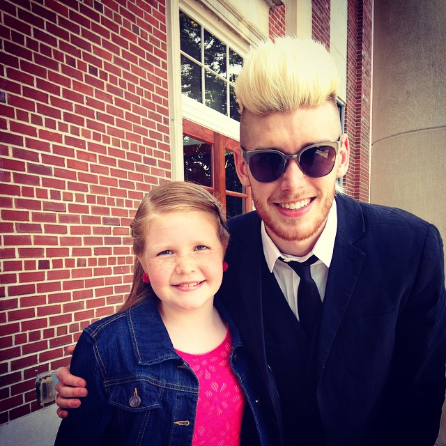 My daughter Grace loved meeting the amazingly talented @ColtonDixon at the Dove awards! #Anchor