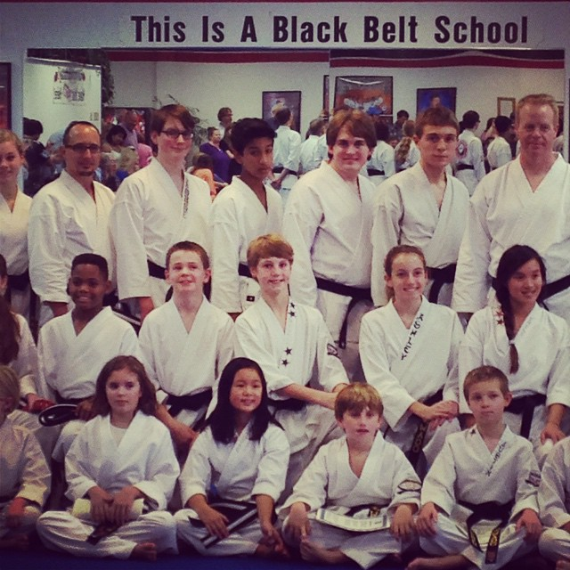 It's official, George is a black belt! Way to go!