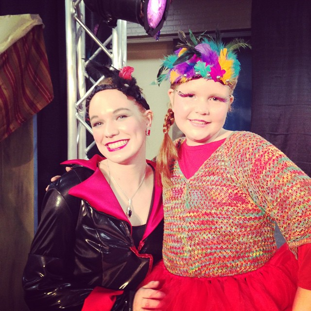 "So proud of Grace playing ""Iago the parrot"" in today's CYT production of Aladdin!"