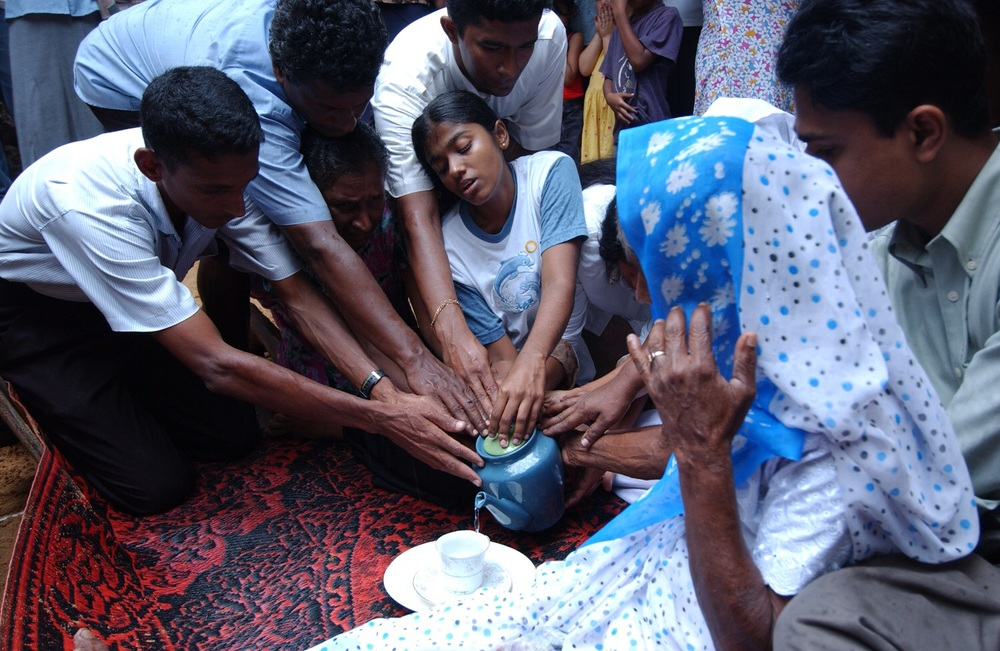 Funeral after Tsunami in Sri Lanka
