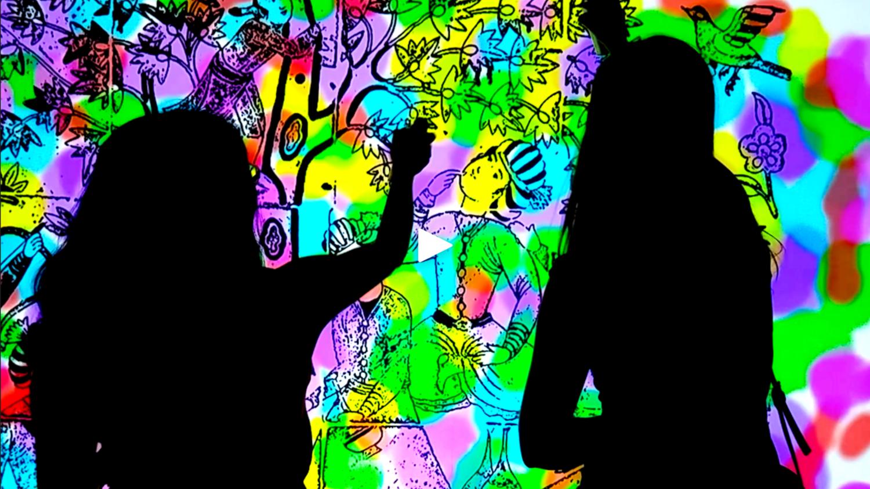 Digital wall graffiti - Giant Digital Colouring Book Wall Png