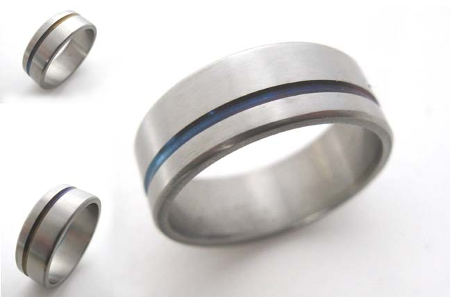 Titanium Banded band ring
