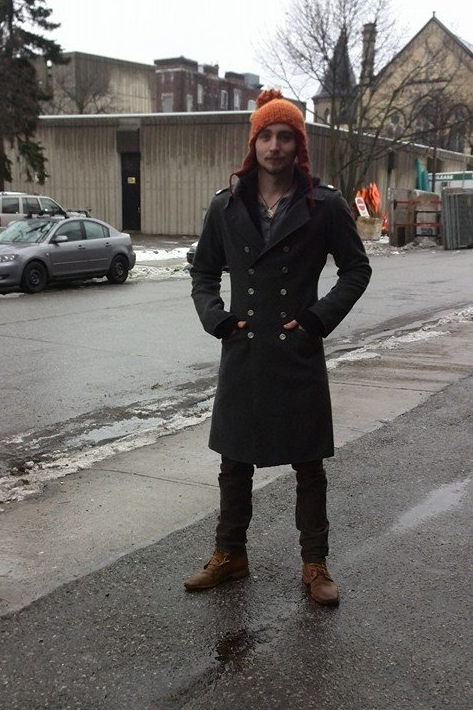 A modern men's winter coat.