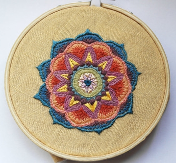 Embroidered Mandala by Aurora
