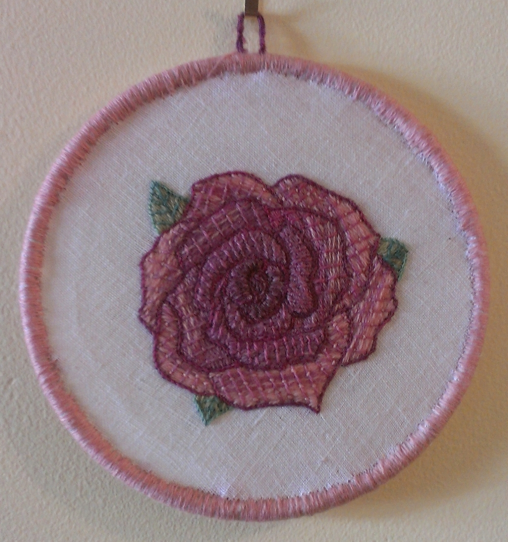 Embroidered rose by Aurora