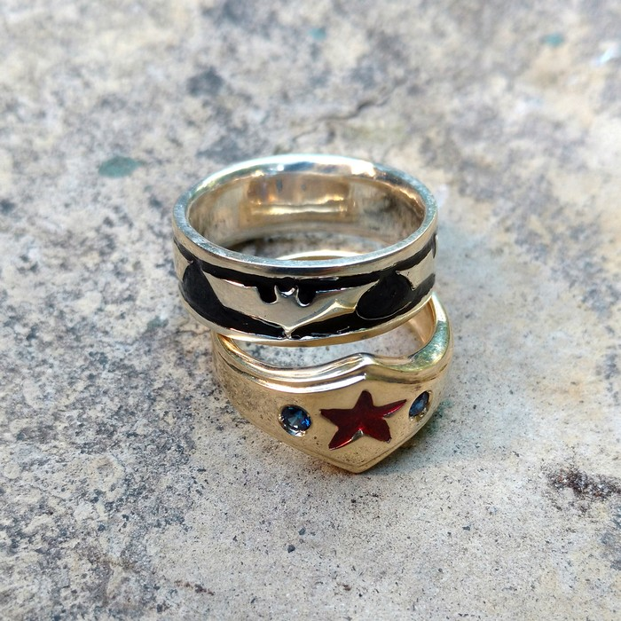 Superhero Anniversary Rings