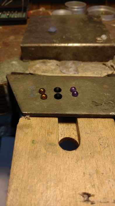 Citrine, onyx and amethyst cabs